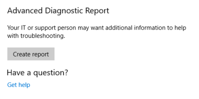 AdvancedDiagnosticsReport