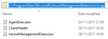 IntuneManagementExtensionLogs