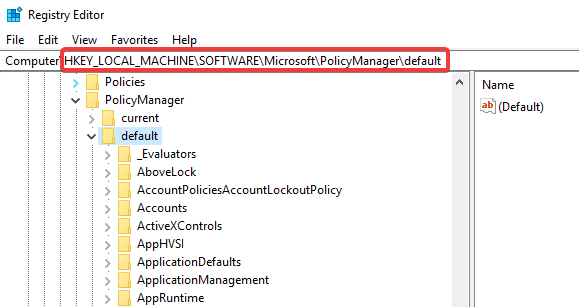 RegistryPolicyManagerDefault