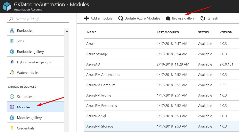 AzureAutomationAddModule
