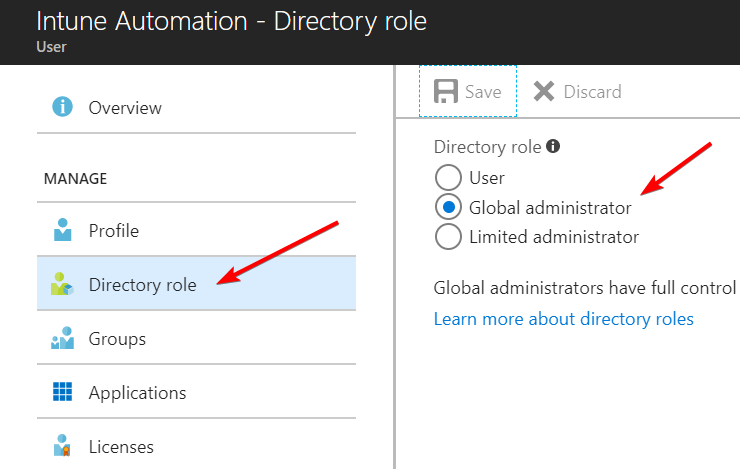 Process automation for Intune and Azure AD with Azure
