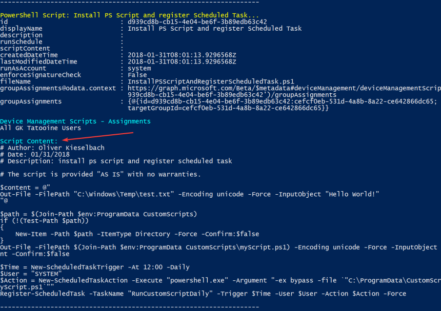 Part 2, Deep dive Microsoft Intune Management Extension – PowerShell
