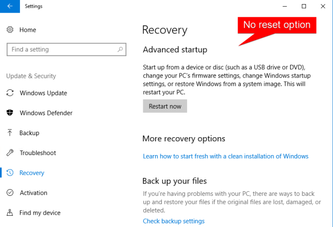 "How to ""Push-button reset"" Windows 10 – Modern IT – Cloud"