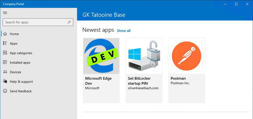 Windows Company Portal