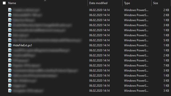 PowerShell script download folder