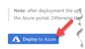 GitHub solution Deploy to Azure button