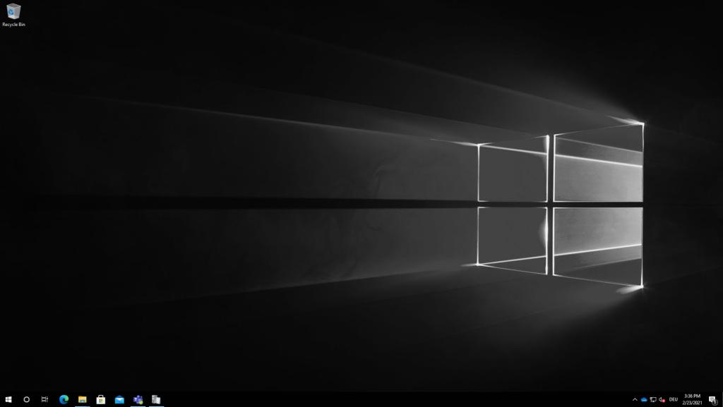 Custom wallpaper applied to Windows 10