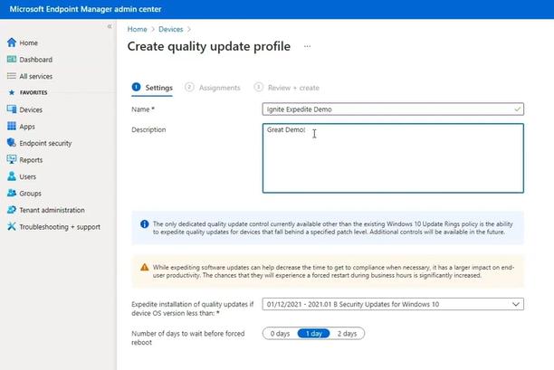 Microsoft Intune Expediting Quality Updates - Windows 10 Quality Updates