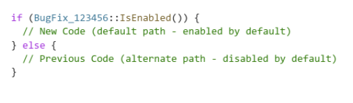 Known Issue Rollback (KIS) code path - bug fix containment