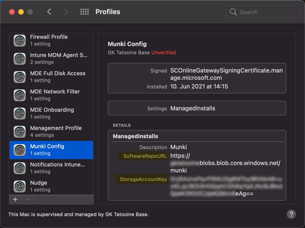 Munki preferences - custom MDM configuration profile